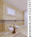 Bright classic bathroom interior design in large 53223937