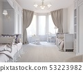 Bright children's room in a classic style and 53223982