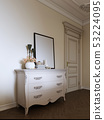 classic dresser with decor and a picture in a 53224095