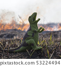 Dinosaur model in the burning field 53224494