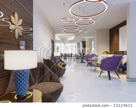 Lounge area of a hotel, club, company lobby. 53224615