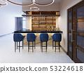 Interior of a modern pub or bar at evening 53224618