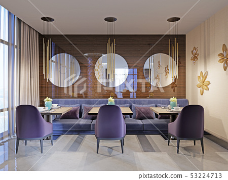 Restaurant interior, part of a hotel, wall with 53224713