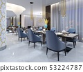 Luxurious hotel restaurant in modern style with 53224787