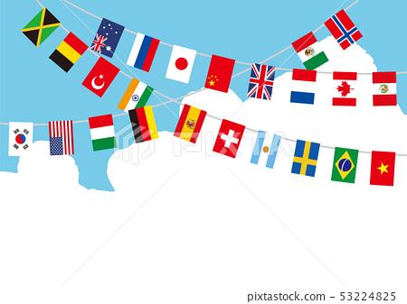 푸른 하늘 세계 국기 53224825