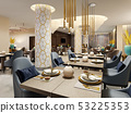 Luxurious hotel restaurant in modern style with 53225353