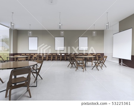 modern training room with brown furniture and 53225361