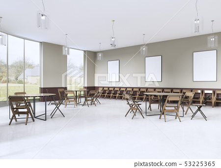 modern training room with brown furniture and 53225365