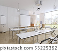 Empty classroom for students with modern equipment 53225392