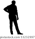 Black silhouette man standing, people on white 53232997