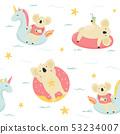 Seamless pattern Cute hand drawn relaxing koals 53234007