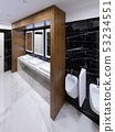 Modern public toilet in contemporary style with a 53234551