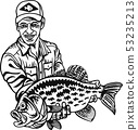 Fisherman and Crappie fish - Freshwater sport fish 53235213