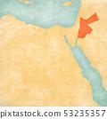 Map of Egypt - Jordan 53235357