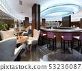 Modern Interior of cozy bar restaurant. 53236087