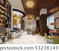 Lounge library with modern style bar. 53236149