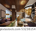 Lounge library with modern style bar. 53236154