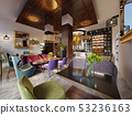 Fashionable in modern style library-bar in art 53236163