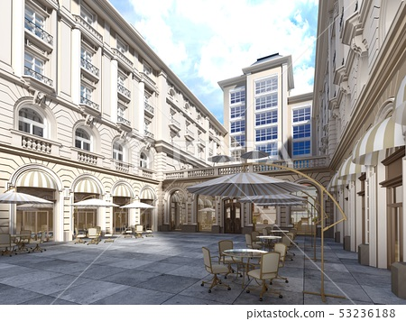 The architecture of the courtyard is classic 53236188