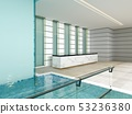 Luxury spa center with reception interior with 53236380