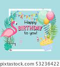 Birthday Card, Congratulation Template Vector 53236422