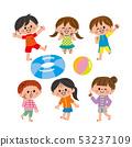 泳裝的微笑的孩子 53237109
