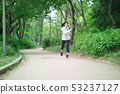 달리기 · 여성 · 신록 53237127