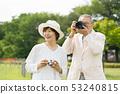 Senior couple travel camera couple image 53240815