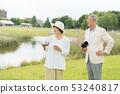 Senior couple travel camera couple image 53240817