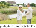 Senior couple travel camera couple image 53240819