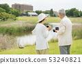 Senior couple travel camera couple image 53240821