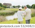 Senior couple travel camera couple image 53240823