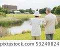 Senior couple travel camera couple image 53240824