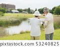 Senior couple travel camera couple image 53240825