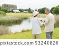 Senior couple travel camera couple image 53240826