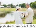 Senior couple travel camera couple image 53240827