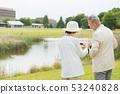 Senior couple travel camera couple image 53240828