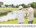 Senior couple travel camera couple image 53240829
