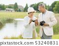 Senior couple travel camera couple image 53240831