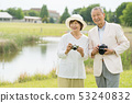 Senior couple travel camera couple image 53240832