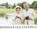 Senior couple travel camera couple image 53240833