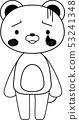 동물 북극곰 귀여운 전신 캐릭터 반응 포즈 표정 일러스트 53241348