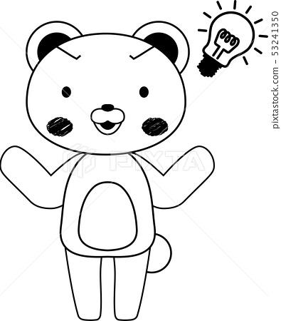 동물 북극곰 귀여운 전신 캐릭터 반응 포즈 표정 일러스트 53241350