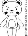 동물 북극곰 귀여운 전신 캐릭터 반응 포즈 표정 일러스트 53241351