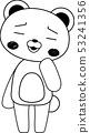 동물 북극곰 귀여운 전신 캐릭터 반응 포즈 표정 일러스트 53241356