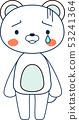 동물 북극곰 귀여운 전신 캐릭터 반응 포즈 표정 일러스트 53241364