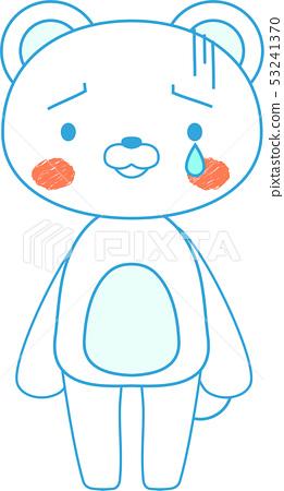 동물 북극곰 귀여운 전신 캐릭터 반응 포즈 표정 일러스트 53241370