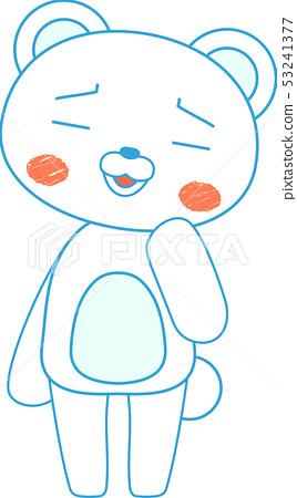 동물 북극곰 귀여운 전신 캐릭터 반응 포즈 표정 일러스트 53241377