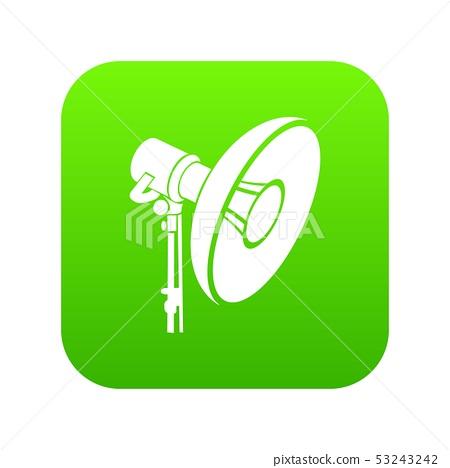 Professional studio light icon green vector 53243242