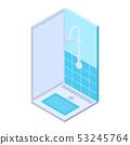 Public shower bath icon, isometric style 53245764